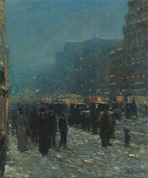 Art Prints of Broadway and 42nd Street by Childe Hassam