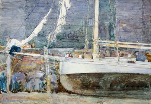 Art Prints of Dry-dock Gloucester by Childe Hassam