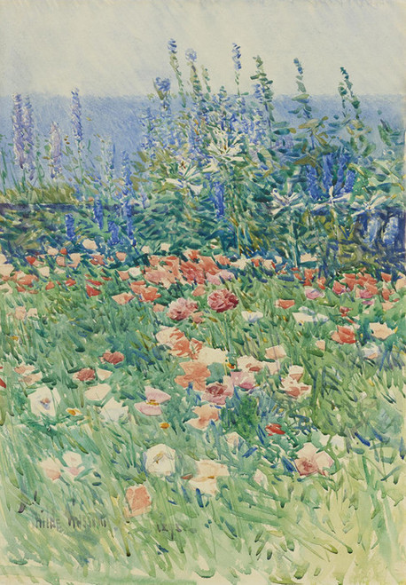 Art Prints of Flower Garden, Isle of Shoals by Childe Hassam