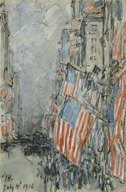 Art Prints of Flag Day on Fifth Avenue, July 4, 1916 by Childe Hassam
