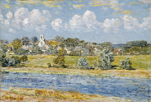 Art Prints of Landscape at Newfields, New Hampshire by Childe Hassam