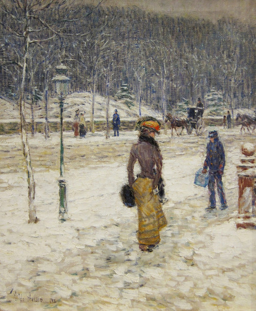 Art Prints of New York Street by Childe Hassam