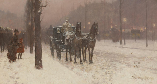 Art Prints of Paris, Winter Day by Childe Hassam
