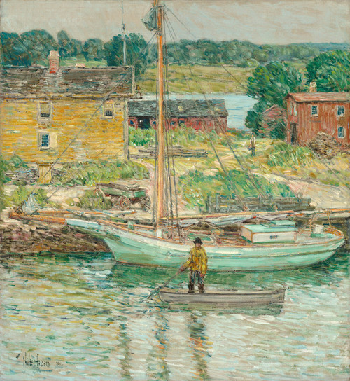 Art Prints of Oyster Sloop, Cos Cob by Childe Hassam