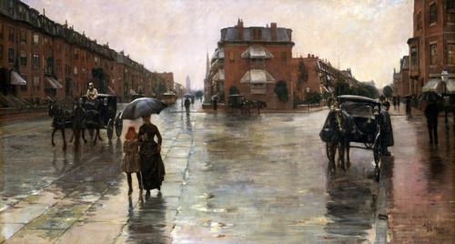 Art Prints of Rainy Day, Boston by Childe Hassam