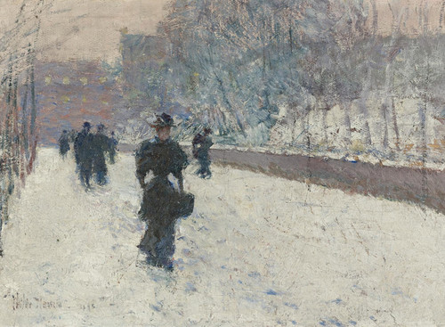 Art Prints of Promenade, Winter New York by Childe Hassam