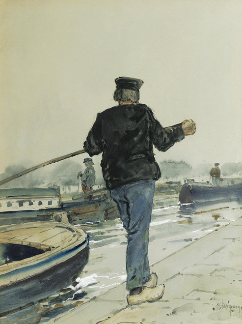 Art Prints of Riverside, Holland by Childe Hassam