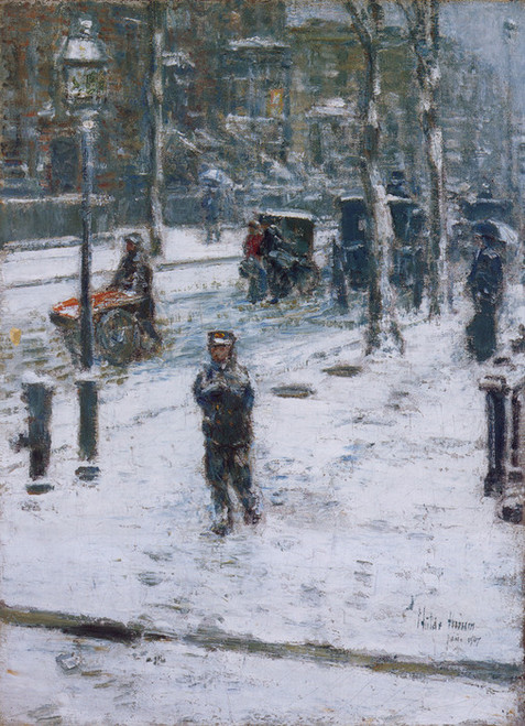 Art Prints of Snow Storm, 5th Avenue by Childe Hassam