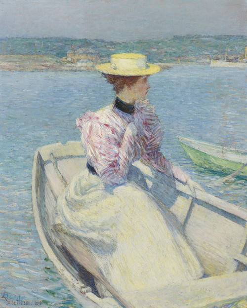 Art Prints of The White Dory, Gloucester by Childe Hassam