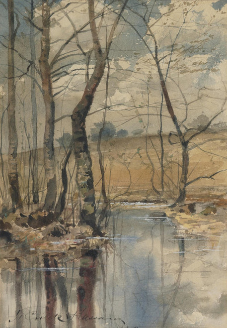 Art Prints of Woodland Pond by Childe Hassam