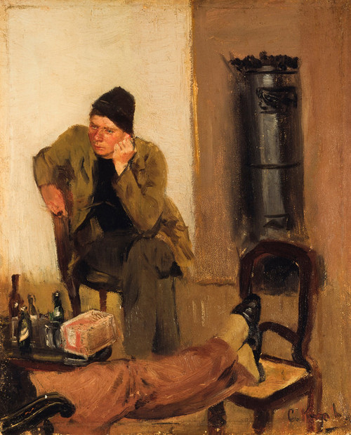 Art Prints of Charles Lundh in Conversation with Christian Krohg by Christian Krohg