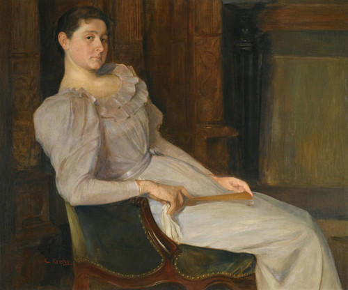 Art Prints of Girl in White by Christian Krohg