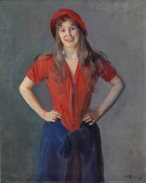 Art Prints of Portrait of the Painter Oda Krohg by Christian Krohg