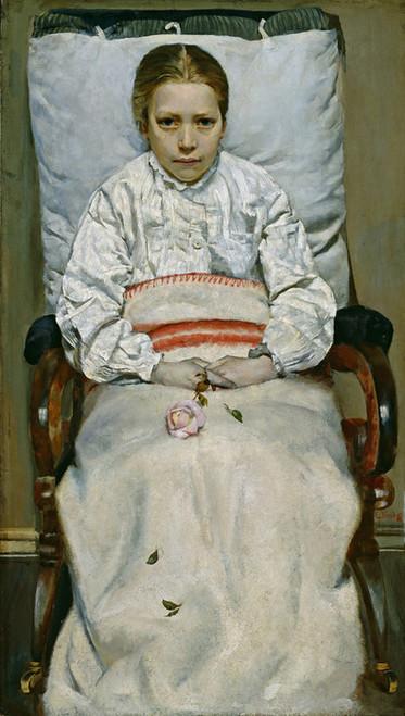 Art Prints of Sick Girl by Christian Krohg