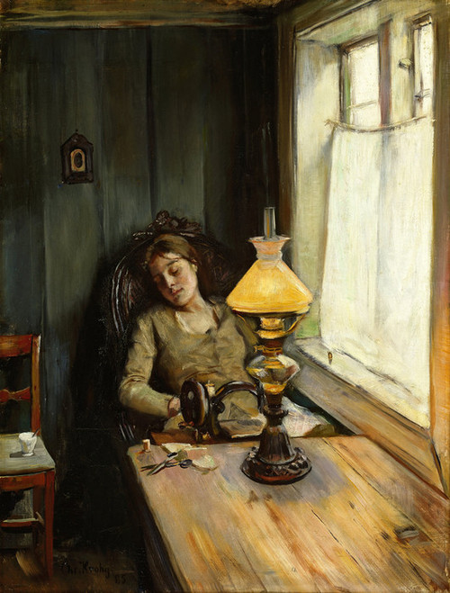 Art Prints of Tired by Christian Krohg