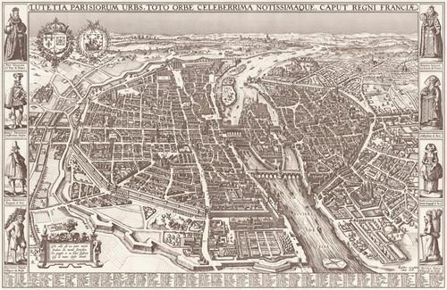 Art Prints of Map of Paris by Claes Jansz Visscher