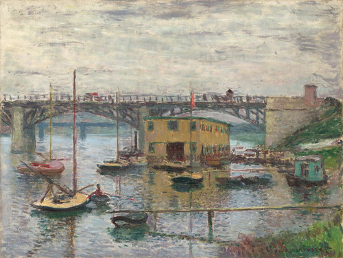 Art Prints of Bridge at Argenteuil on a Gray Day by Claude Monet