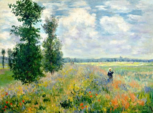 Art Prints of Poppy Field Argenteuil by Claude Monet