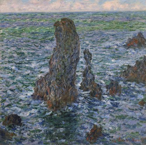 Art Prints of Pyramides de Port-Coton by Claude Monet
