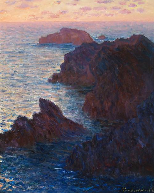 Art Prints of Rocks at Belle-ile-port-domois by Claude Monet