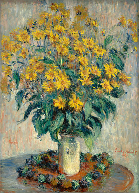 Art Prints of Jerusalem Artichoke Flowers by Claude Monet