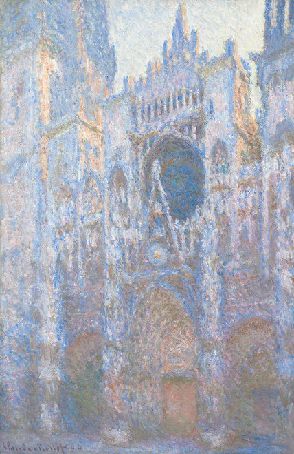 Art Prints of Rouen Cathedral, West Facade by Claude Monet