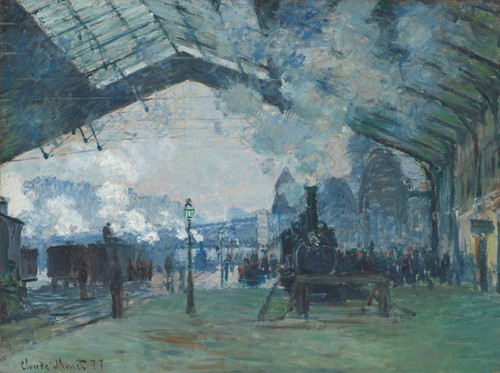 Art Prints of Arrival of the Normandy Train, Gare-Saint-Lazare by Claude Monet