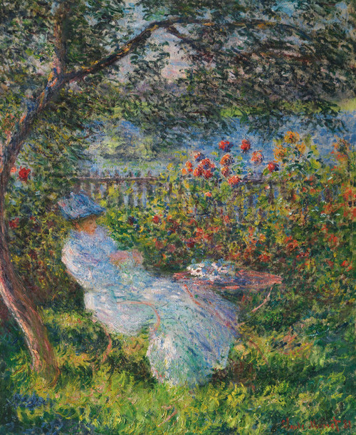 Art Prints of Alice Hoschede in the Garden by Claude Monet