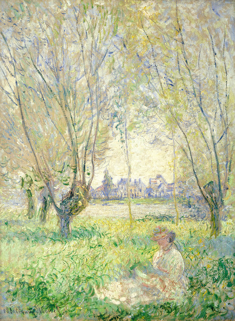 Art Prints of Woman Seated Under the Willows by Claude Monet