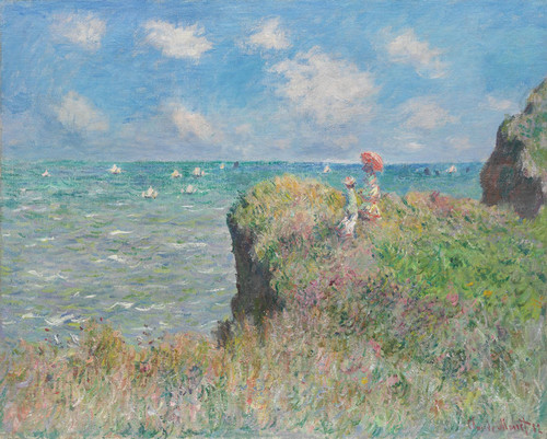 Art Prints of Cliff Walk at Pourville by Claude Monet