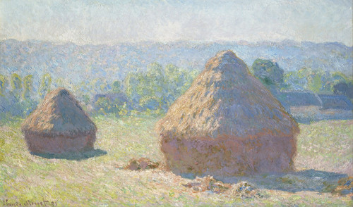 Art Prints of Haystacks, End of Summer by Claude Monet