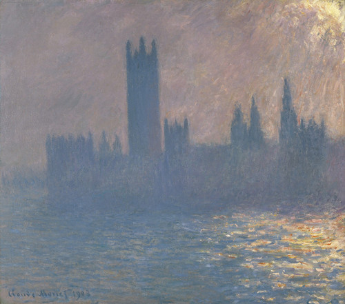Art Prints of Houses of Parliament, Sunlight Effect by Claude Monet