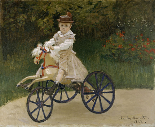 Art Prints of Jean Monet on His Hobby Horse by Claude Monet