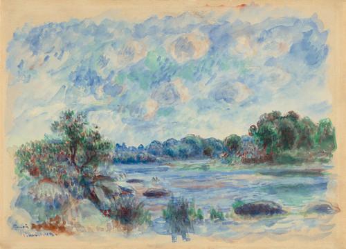 Art Prints of Landscape at Pont-Aven by Claude Monet
