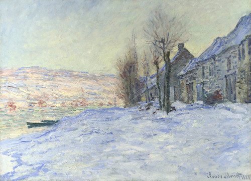 Art Prints of Lavacourt Sunshine and Snow by Claude Monet