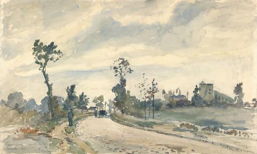Art Prints of Louveciennes Route de Saint-Germain by Claude Monet