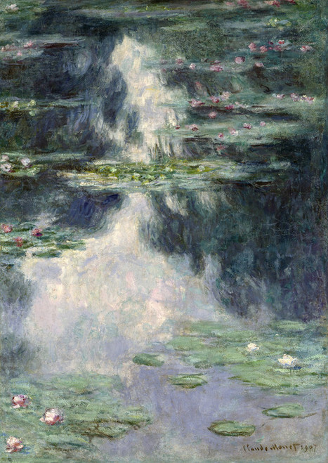 Art Prints of Pond with Water Lilies by Claude Monet