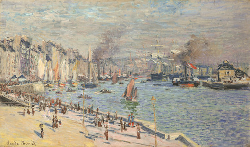 Art Prints of Port of Le Havre by Claude Monet
