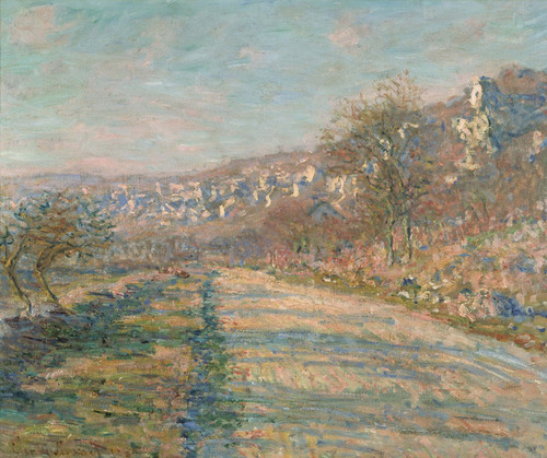 Art Prints of Road of La Roche-Guyon by Claude Monet