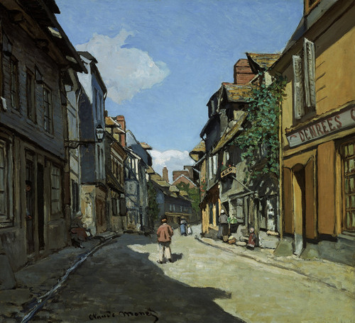 Art Prints of Rue de la Bavole, Honfleur by Claude Monet