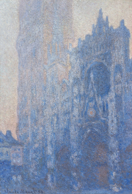 Art Prints of Rouen Cathedral Facade and Tour d'Albane, Morning Effect by Claude Monet