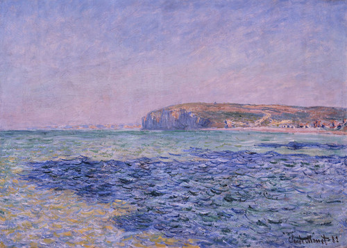 Art Prints of Shadows on the Sea and Cliffs at Pourville by Claude Monet