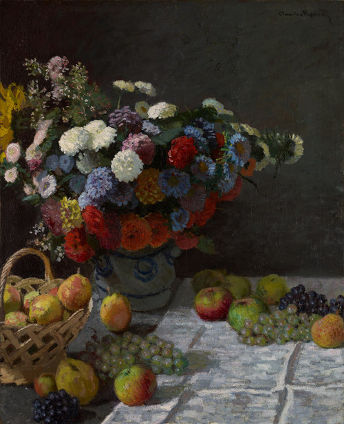 Art Prints of Still Life with Flowers and Fruit by Claude Monet
