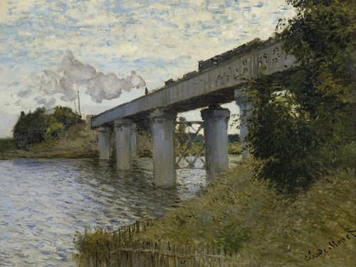 Art Prints of The Railroad Bridge in Argenteuil by Claude Monet