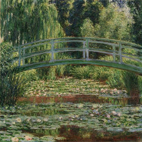 Art Prints of Japanese Footbridge and the Water Lily Pool, Giverny by Claude Monet