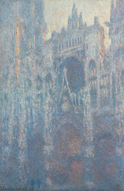 Art Prints of The Portal of Rouen Cathedral in Morning Light by Claude Monet