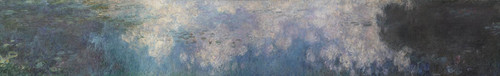 Art Prints of The Water Lilies, the Clouds by Claude Monet