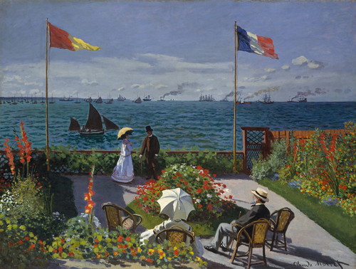 Art Prints of The Terrace or Garden at Sainte Adresse by Claude Monet
