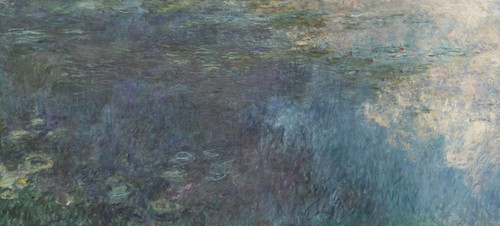 Art Prints of The Water Lilies, the Clouds, Tryptic I by Claude Monet