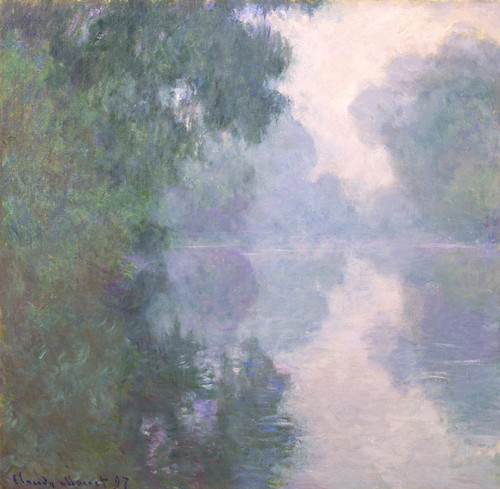 Art Prints of The Seine at Giverny, Morning Mists by Claude Monet